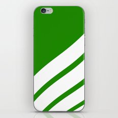 Abstract  pattern - green and white. iPhone Skin