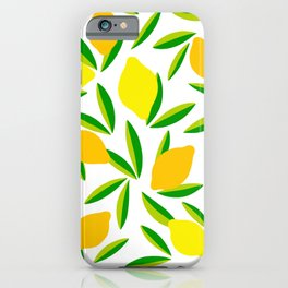 Pop Lemon & green Pattern #summervibes iPhone Case