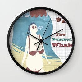 Typical Tourists - The beached whale Wall Clock