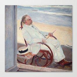 Antonio Garcia at the Beach by Joaquin Sorolla, 1909. Canvas Print