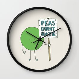 Let's Get Along Wall Clock