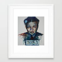 parks Framed Art Prints featuring Rosa Parks by Debbie Chessell