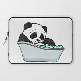 Bathtub panda Laptop Sleeve