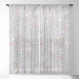 Diamond Pattern 4 Sheer Curtain