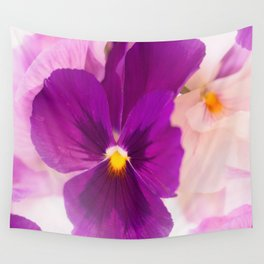 Flower Bouquet in Purple and Pink Colors  #decor #society6 #buyart Wall Tapestry