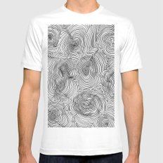 Contours Mens Fitted Tee White MEDIUM