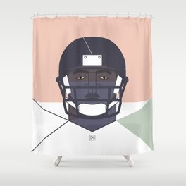 football player 01 Shower Curtain