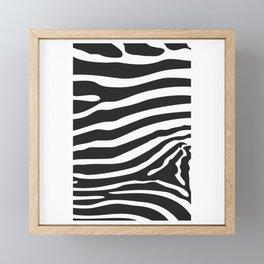 Zebra Shape Framed Mini Art Print