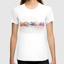 Jaipur skyline in watercolor background T-shirt