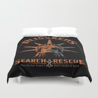discount Duvet Covers featuring Snake Plissken's Search & Rescue Pty. Ltd. by 6amcrisis