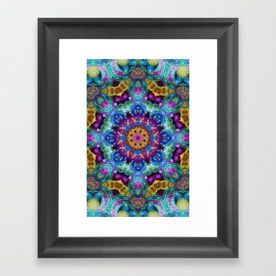 Colorful Mosaic Mandala Framed Art Print
