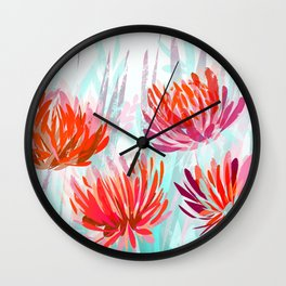 Chrysanthemum in the garden Wall Clock