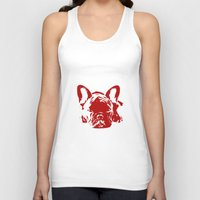 frenchie Tank Tops featuring Frenchie by Red Eyes Apparel