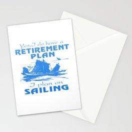 SAILING PLAN Stationery Cards