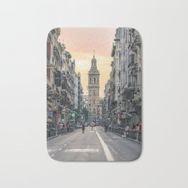 Valencia's sunset Bath Mat