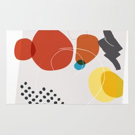 Shape & Hue Series No. 3 – Yellow, Orange & Blue Modern Abstract Rug