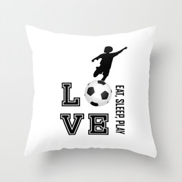 Eat, Sleep, Play  Love Volleyball Throw Pillow