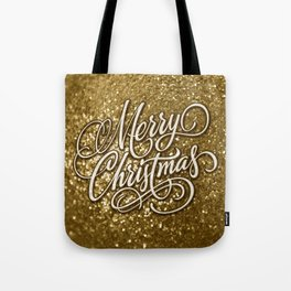 Glitter Gold Xmas Tote Bag