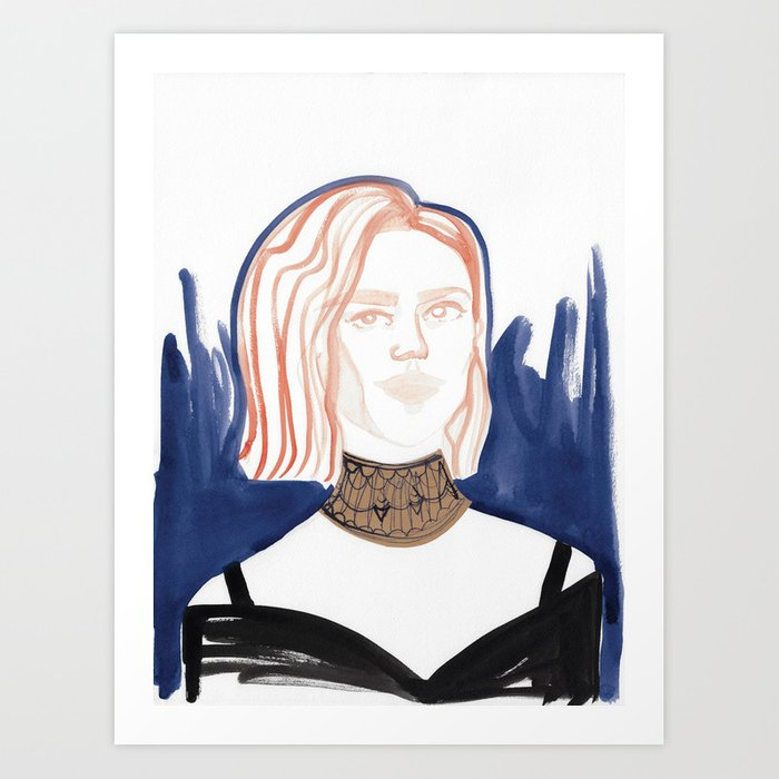 Evan with huge choker Art Print