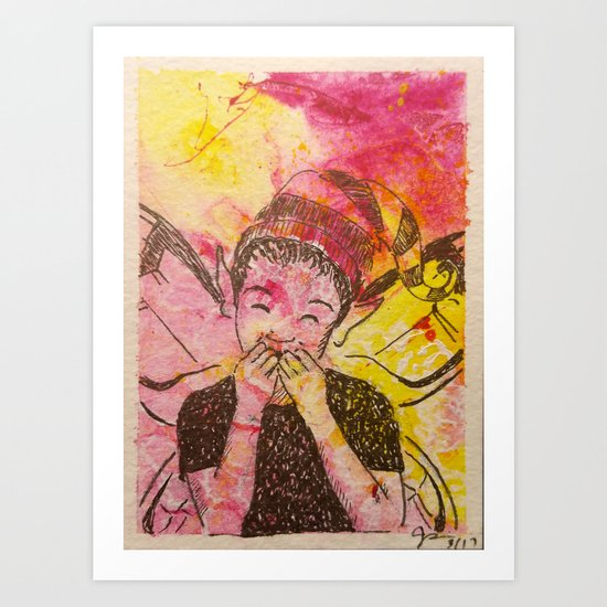 A Case of the Giggles ( Laughing Fairy ) Art Print