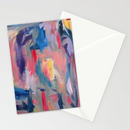No. 60 Multicolour Modern Art Abstract Stationery Cards