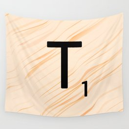 Scrabble Letter T - Large Scrabble Tiles Wall Tapestry