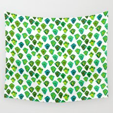 Green gemstone pattern. Wall Tapestry