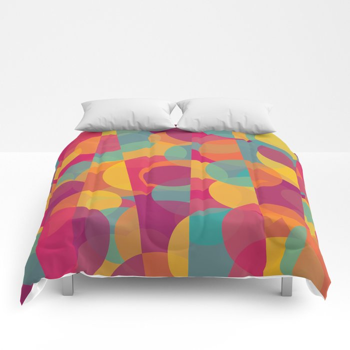 Abstract Circle Pattern - Colorful Dream Comforters