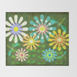 In The Garden Among The Flowers Throw Blanket