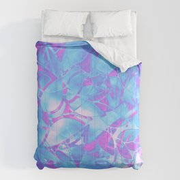 Grunge Art Floral Abstract G171 Comforters