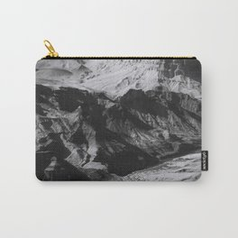 Desert at Grand Canyon national park, USA in black and white Carry-All Pouch