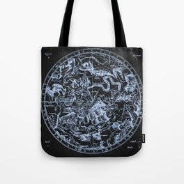 Ice on Black | Zodiac Skies & Astrological Ties Tote Bag