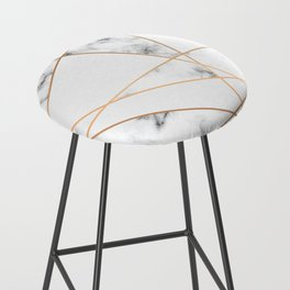 Marble Geometry 054 Bar Stool