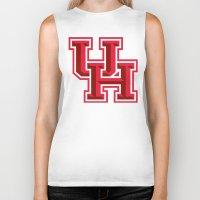 houston Biker Tanks featuring NCAA - Houston Cougars by Katieb1013