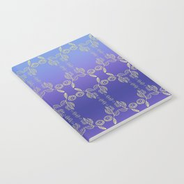 Hand drawn Seed Pods golden yellow blues Notebook