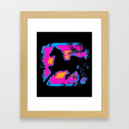 Colorful Western-style Horse Silhouette Framed Art Print