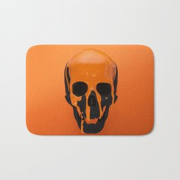 Orange Dripping Skul Bath Mat
