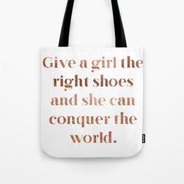 Rose gold shoe love Tote Bag
