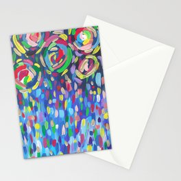 Abstract Candy Firework Stationery Cards
