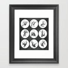 Tree Girl Series (Black & White) Framed Art Print