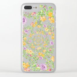 Floral Hypnosis Clear iPhone Case