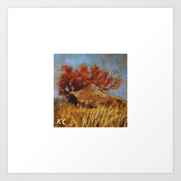 Shrub Oak Art Print