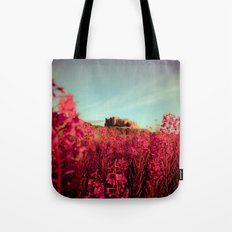 Early morning, Bamburgh castle Tote Bag