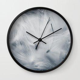 Milkweed abstract Wall Clock