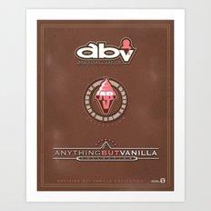 Anything But Vanilla Logos Poster Art Print