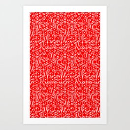 red dice white pips stacked Art Print