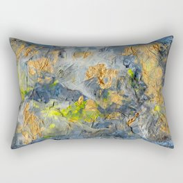 Abstract Beach Mixed Media Rectangular Pillow