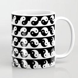 Fluidity | Yin Yang Art Pattern Black & White Coffee Mug