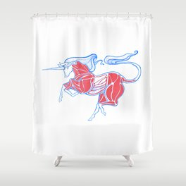 Cross-Section of a Unicorn (No Background Ver.) Shower Curtain