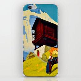 Vintage Valais Switzerland Travel iPhone Skin